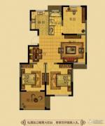 金鼎名府3室2厅1卫95平方米户型图