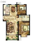 中国铁建原香漫谷2室2厅1卫0平方米户型图
