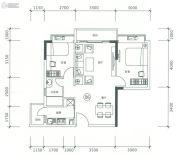 正太广场2室2厅1卫78平方米户型图