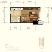 中冶・德贤MINI公馆1室1厅1卫41--55平方米户型图