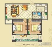 佳源・公园一号2室2厅1卫96平方米户型图