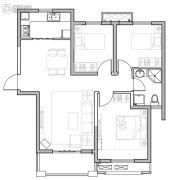 保利鑫城3室21厅1卫98平方米户型图