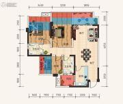 天立・学府华庭3室2厅2卫95平方米户型图