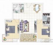 九龙城2室2厅1卫0平方米户型图