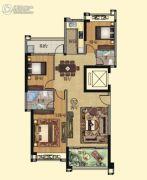 壹品湾3室2厅2卫123--124平方米户型图