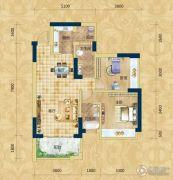 精通・伊顿国际2室2厅2卫84平方米户型图