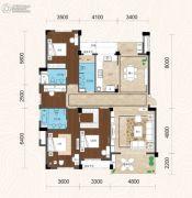 畔山林语4室2厅3卫172平方米户型图