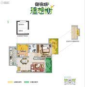 御锦城2室2厅1卫72--73平方米户型图