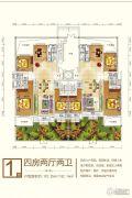 永顺东方塞纳4室2厅2卫192--182平方米户型图