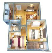 证大大拇指广场2室2厅1卫78平方米户型图