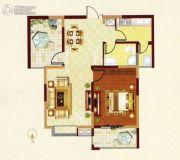 常绿大阅城2室2厅1卫82平方米户型图