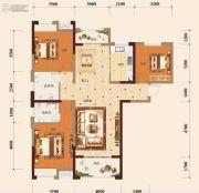 宏维・山水明城・卧龙苑3室2厅2卫130平方米户型图