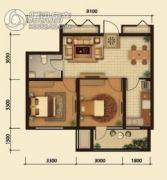 中鸿基名都2室1厅1卫66平方米户型图