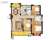 鹏欣领誉 高层3室2厅2卫140平方米户型图