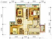 首创光和城2室2厅1卫63平方米户型图