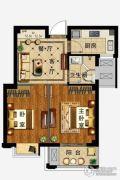 弘业・城市花园2室2厅1卫64平方米户型图