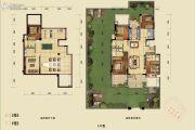 蓝光公园悦府3室2厅2卫98平方米户型图