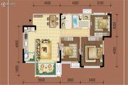复地御香山花香谷3室2厅1卫98平方米户型图