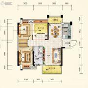 中国铁建・金色蓝庭2室2厅1卫97平方米户型图