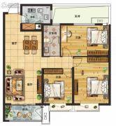 守拙园3室2厅1卫122平方米户型图
