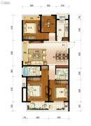保利融信大国�Z4室2厅2卫128平方米户型图