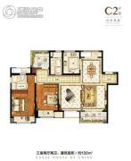 融创运河壹号府3室2厅2卫130平方米户型图