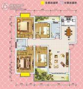 锦绣御珑湾4室2厅2卫138平方米户型图