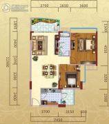 汉中紫薇苑2室1厅1卫91平方米户型图