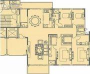 大学城尚轩3室2厅4卫266平方米户型图