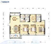 怡翠尊堤4室2厅2卫128平方米户型图