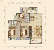 南山壹号3室2厅2卫100--101平方米户型图