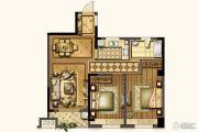 红旗景都2室2厅1卫92平方米户型图