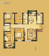 开元・第一城4室2厅2卫143平方米户型图