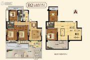 中建・柒号院3室2厅2卫124平方米户型图