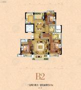 银河名苑3室2厅2卫135平方米户型图