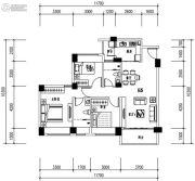 华发城建未来荟3室2厅2卫89平方米户型图