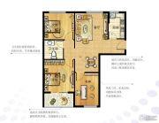 越秀星汇金沙3室2厅1卫85--86平方米户型图