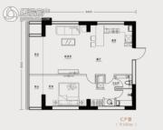 市府・和鸿广场1室1厅1卫100平方米户型图