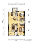 中海国际社区2室2厅1卫87平方米户型图