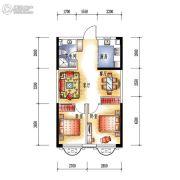 中央学府2室2厅1卫66平方米户型图