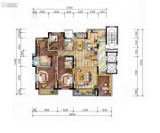 金地湖城大境4室2厅3卫245平方米户型图