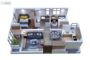 康桥溪公馆2室2厅1卫69平方米户型图