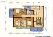 俊发盛唐城4室2厅2卫135平方米户型图