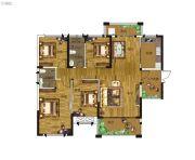 卓建水岸金城4室2厅2卫140平方米户型图