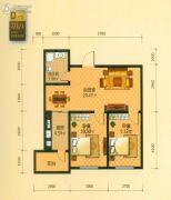青年城邦2室2厅1卫0平方米户型图