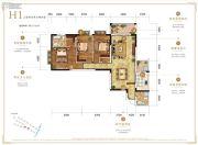 万科银海泊岸3室2厅2卫135平方米户型图