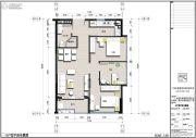 君立国际公寓3室2厅1卫0平方米户型图