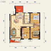 中铁香湖3室2厅1卫0平方米户型图