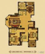 金鼎名府3室2厅2卫139平方米户型图