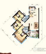 怡景江南3室2厅2卫120平方米户型图